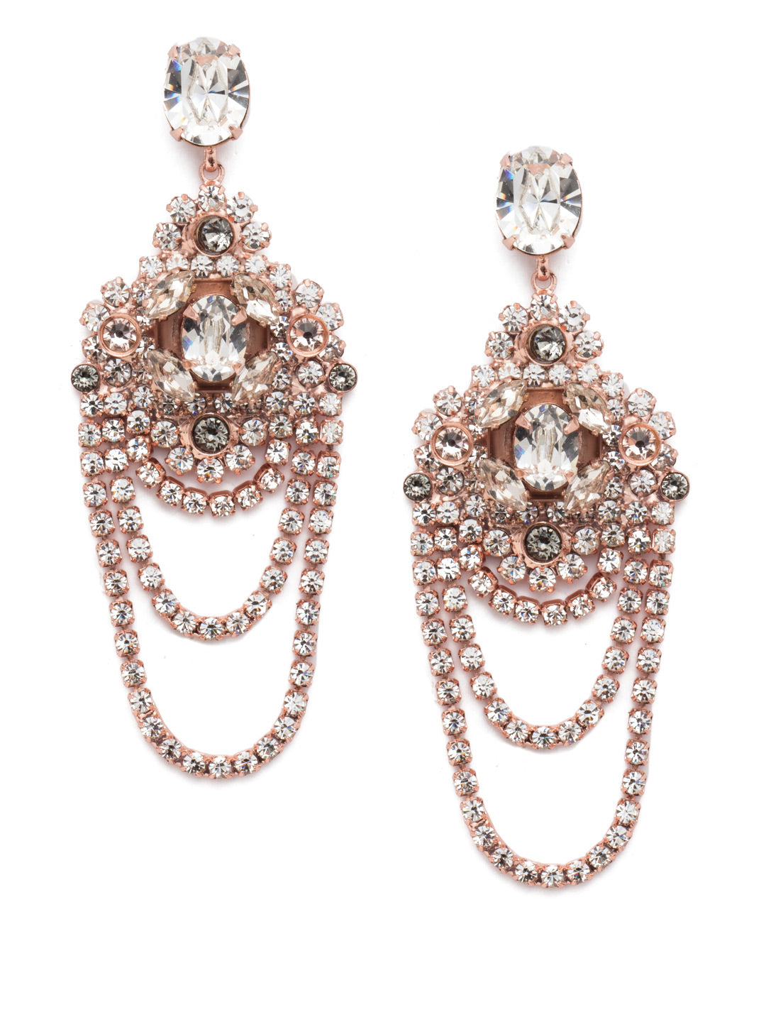 Crystal Chandelier Earrings Statement Earring - EBP49RGSNB