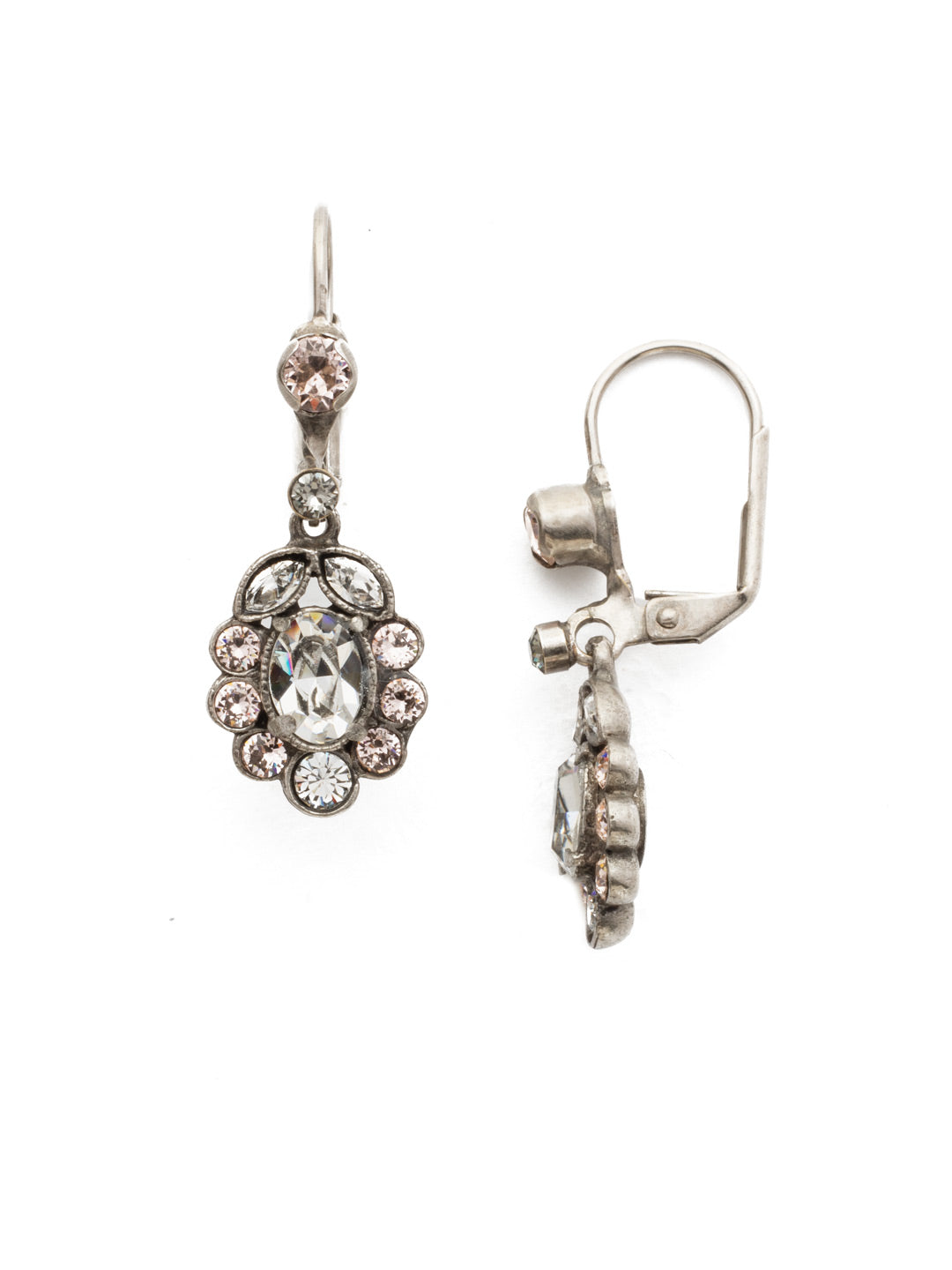 Crystal and Cabochon Cluster Drop Earring - EBT23ASSNB