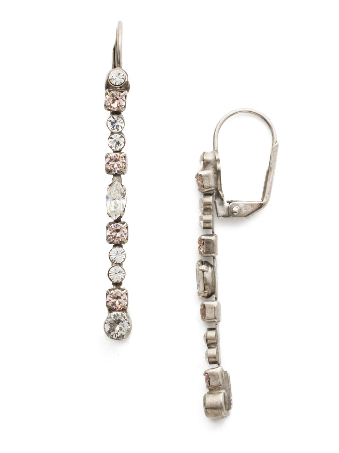 Crystal Line Style Earrings - EBU22ASSNB