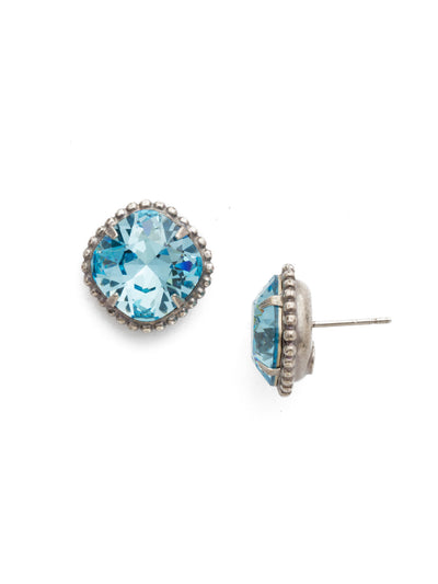 Cushion-Cut Solitaire Stud Earrings - EBX10ASAQU