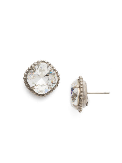 Cushion-Cut Solitaire Stud Earrings - EBX10ASCRY