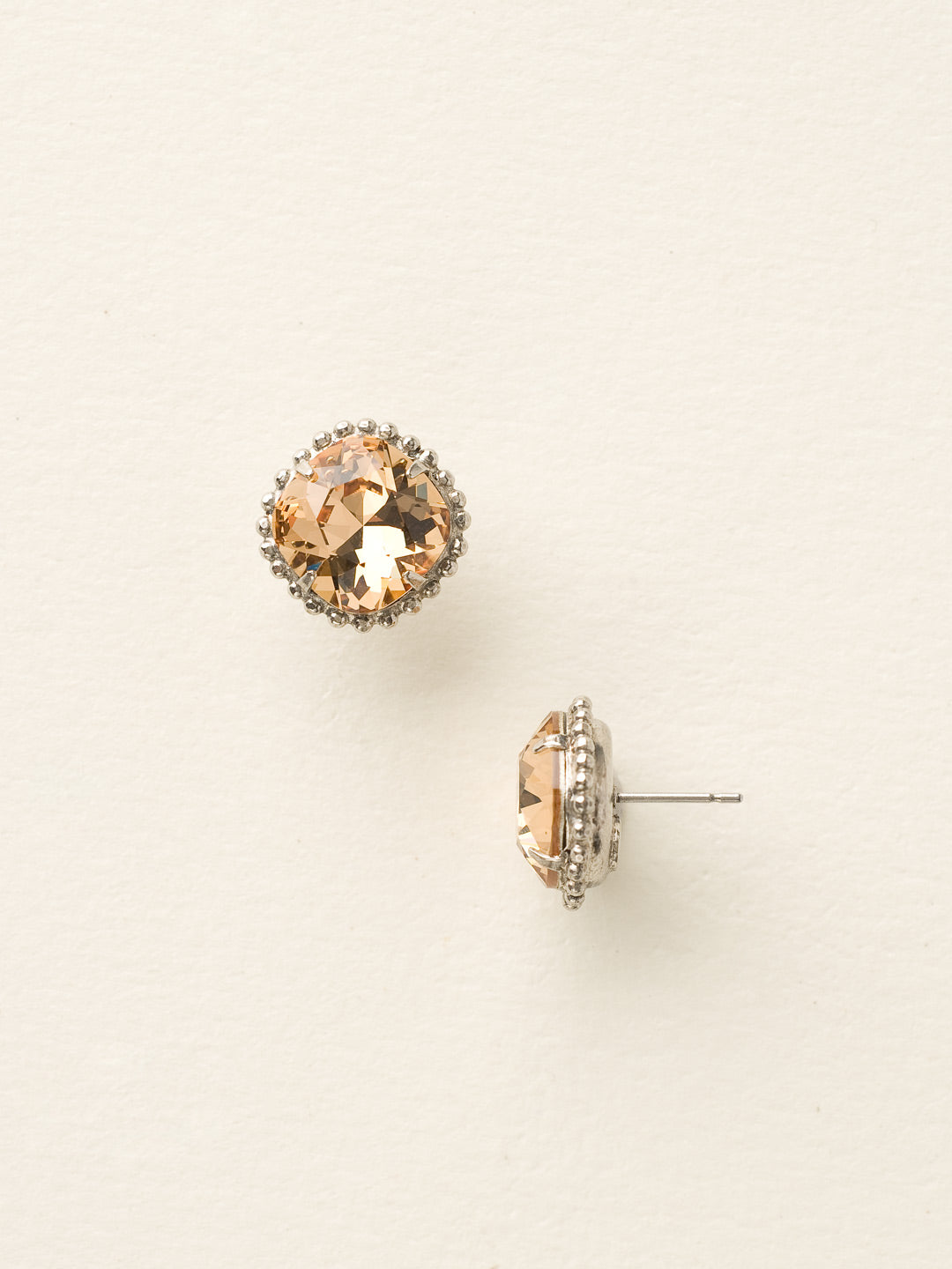 Cushion-Cut Solitaire Stud Earrings - EBX10ASLC