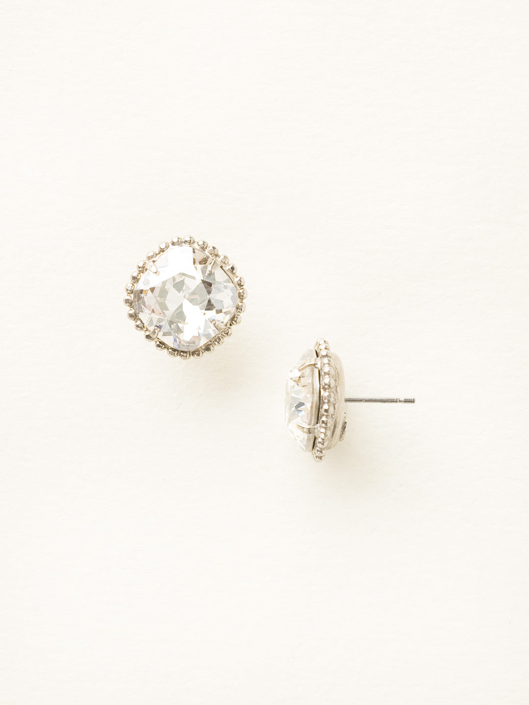 Cushion-Cut Solitaire Stud Earrings - EBX10ASSSH
