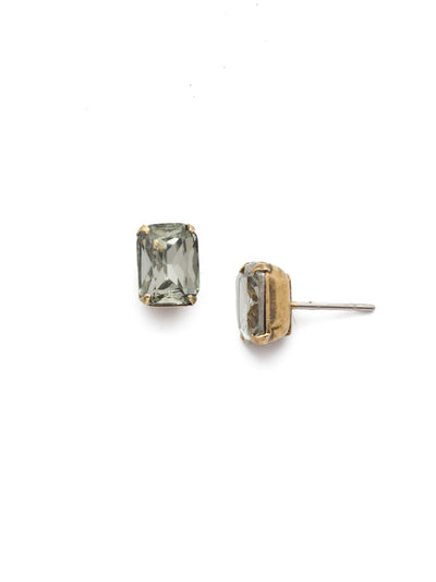 Mini Emerald Cut Stud Earrings - EBY42AGBD