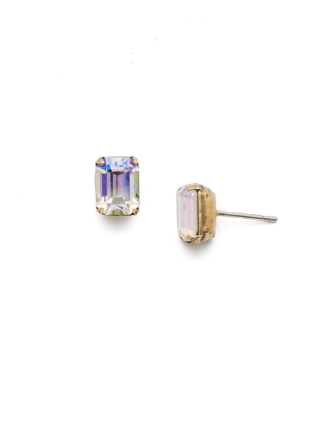 Mini Emerald Cut Stud Earring - Sorrelli Essentials - EBY42AGCAB