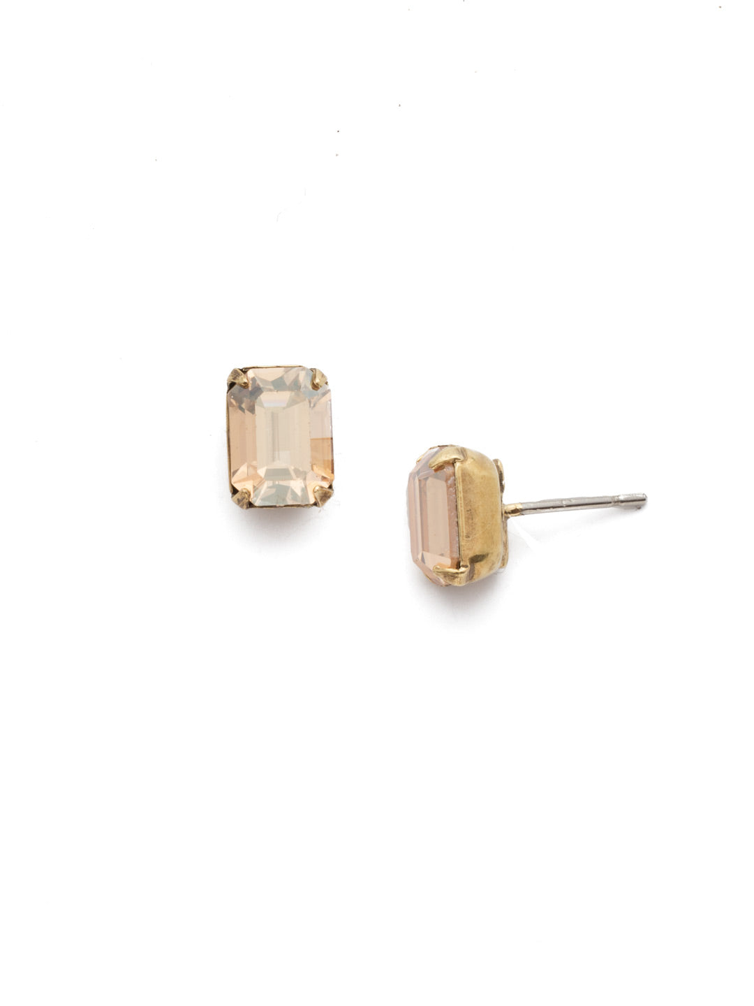 Mini Emerald Cut Stud Earring - Sorrelli Essentials - EBY42AGDCH
