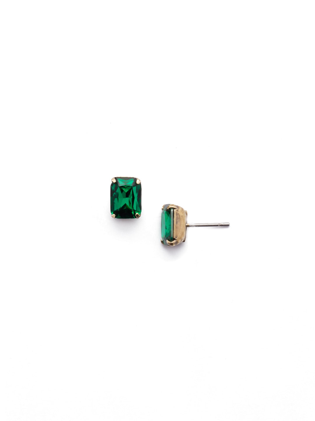 Mini Emerald Cut Stud Earrings - EBY42AGEME