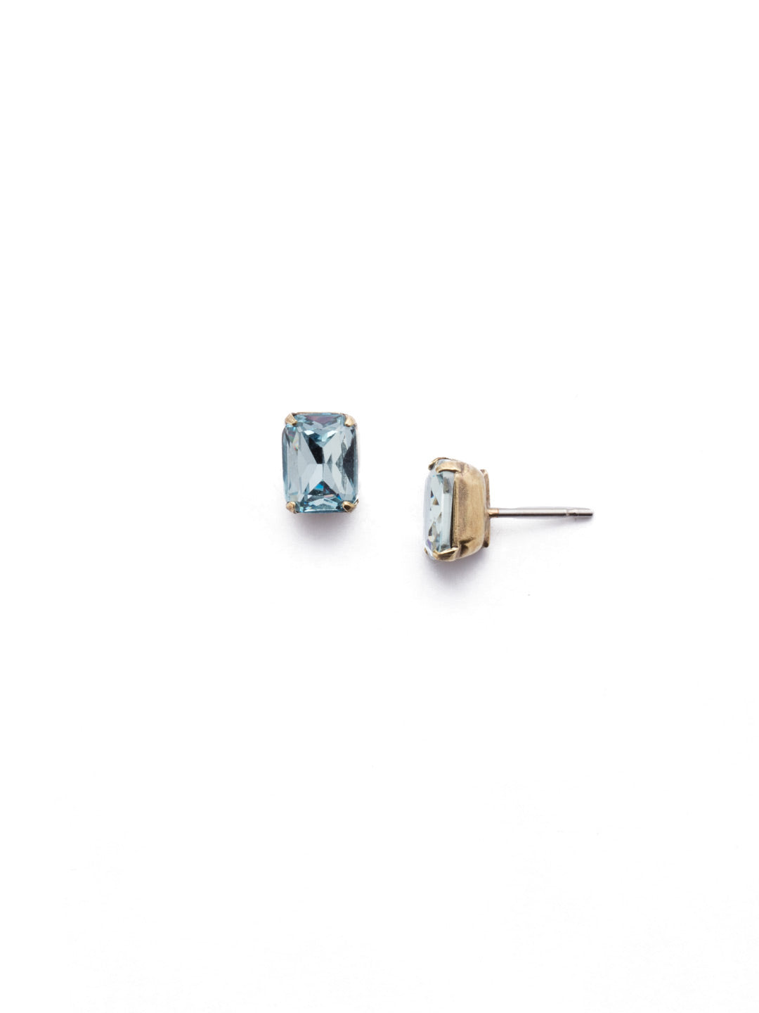 Mini Emerald Cut Stud Earrings - EBY42AGLAQ