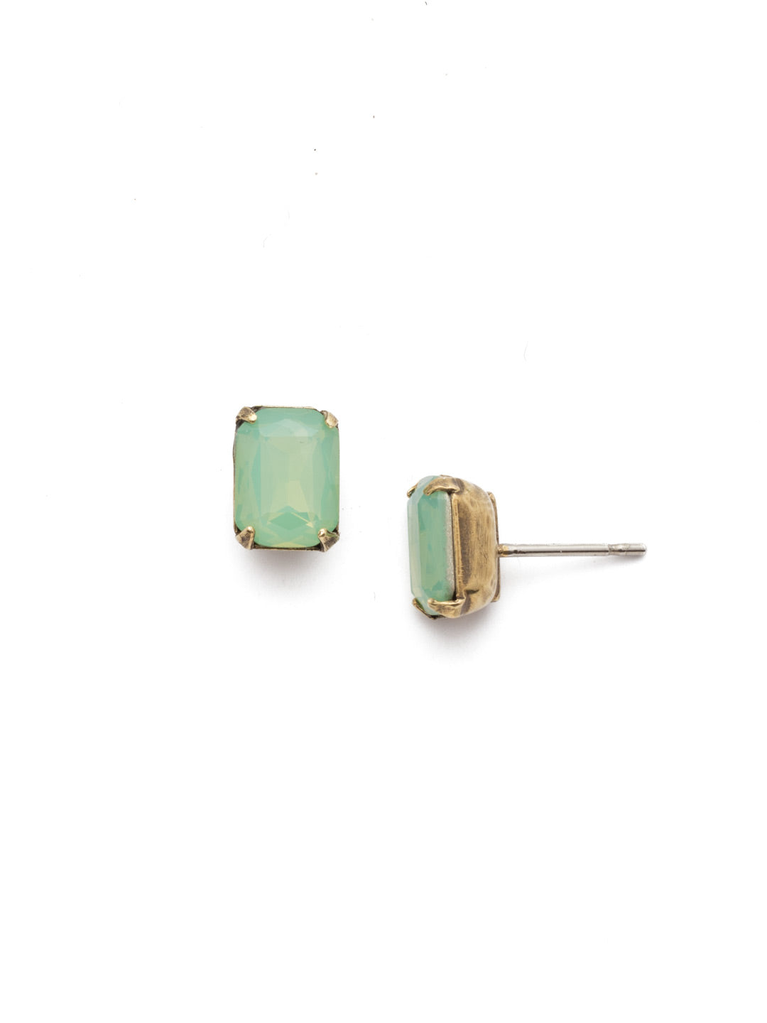 Mini Emerald Cut Stud Earring - Sorrelli Essentials - EBY42AGPAC