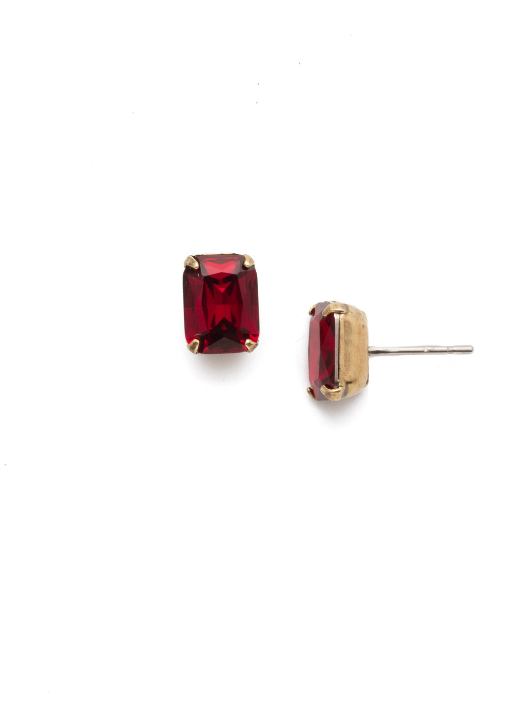 Mini Emerald Cut Stud Earrings - EBY42AGSI