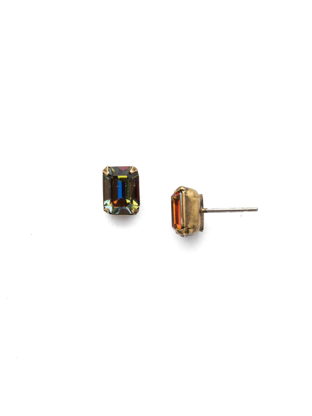 Mini Emerald Cut Stud Earrings - EBY42AGVO