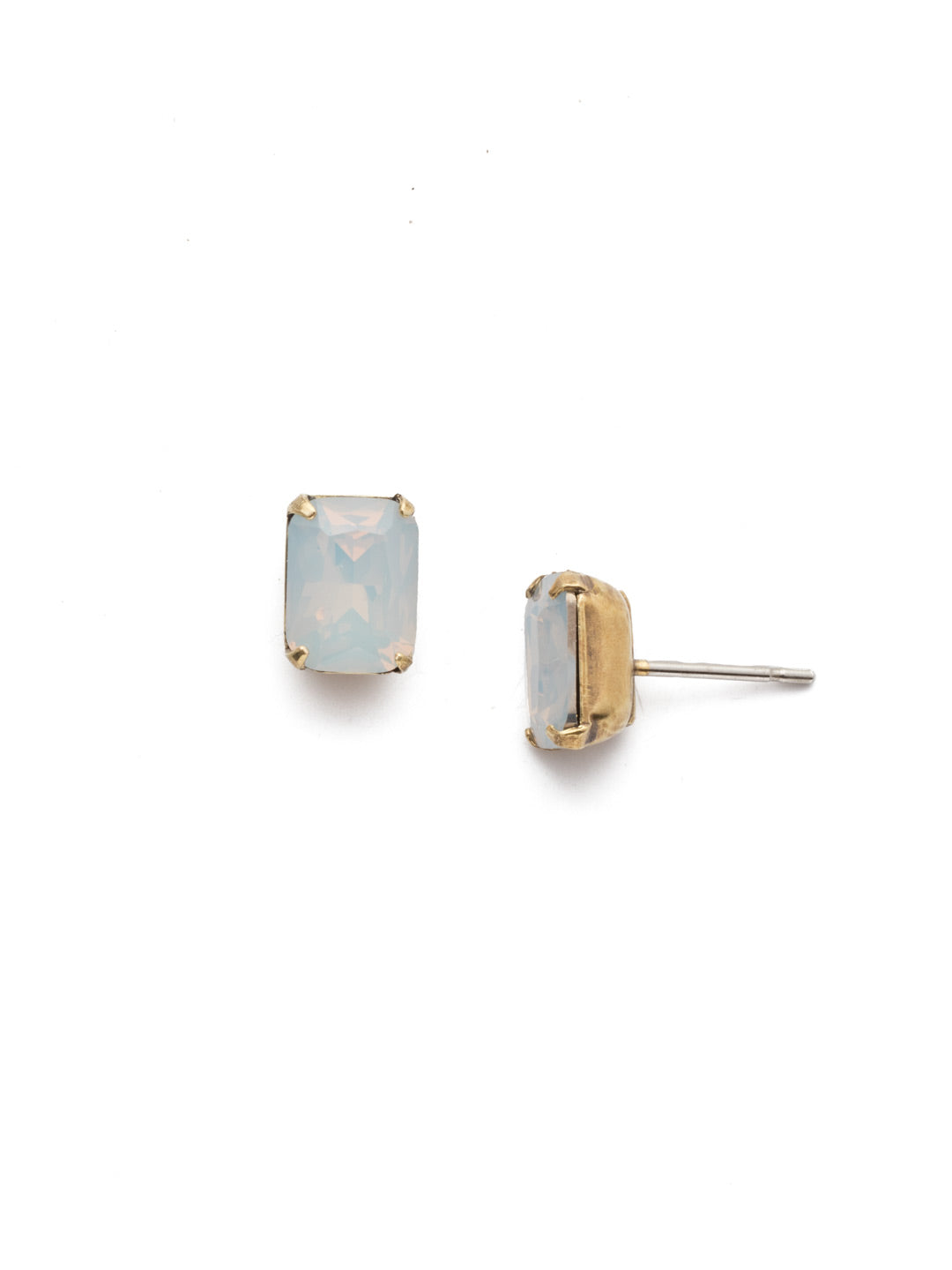 Mini Emerald Cut Stud Earring - Sorrelli Essentials - EBY42AGWO