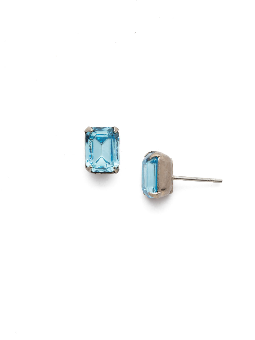 Mini Emerald Cut Stud Earring - Sorrelli Essentials - EBY42ASAQU