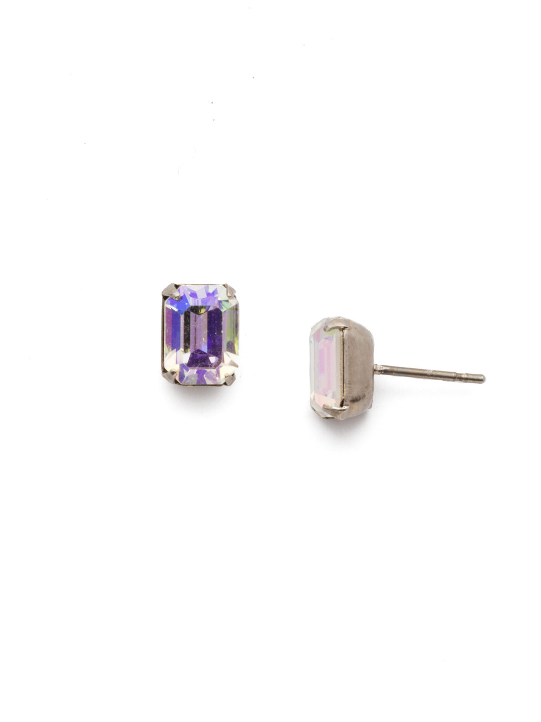 Mini Emerald Cut Stud Earrings - EBY42ASCAB