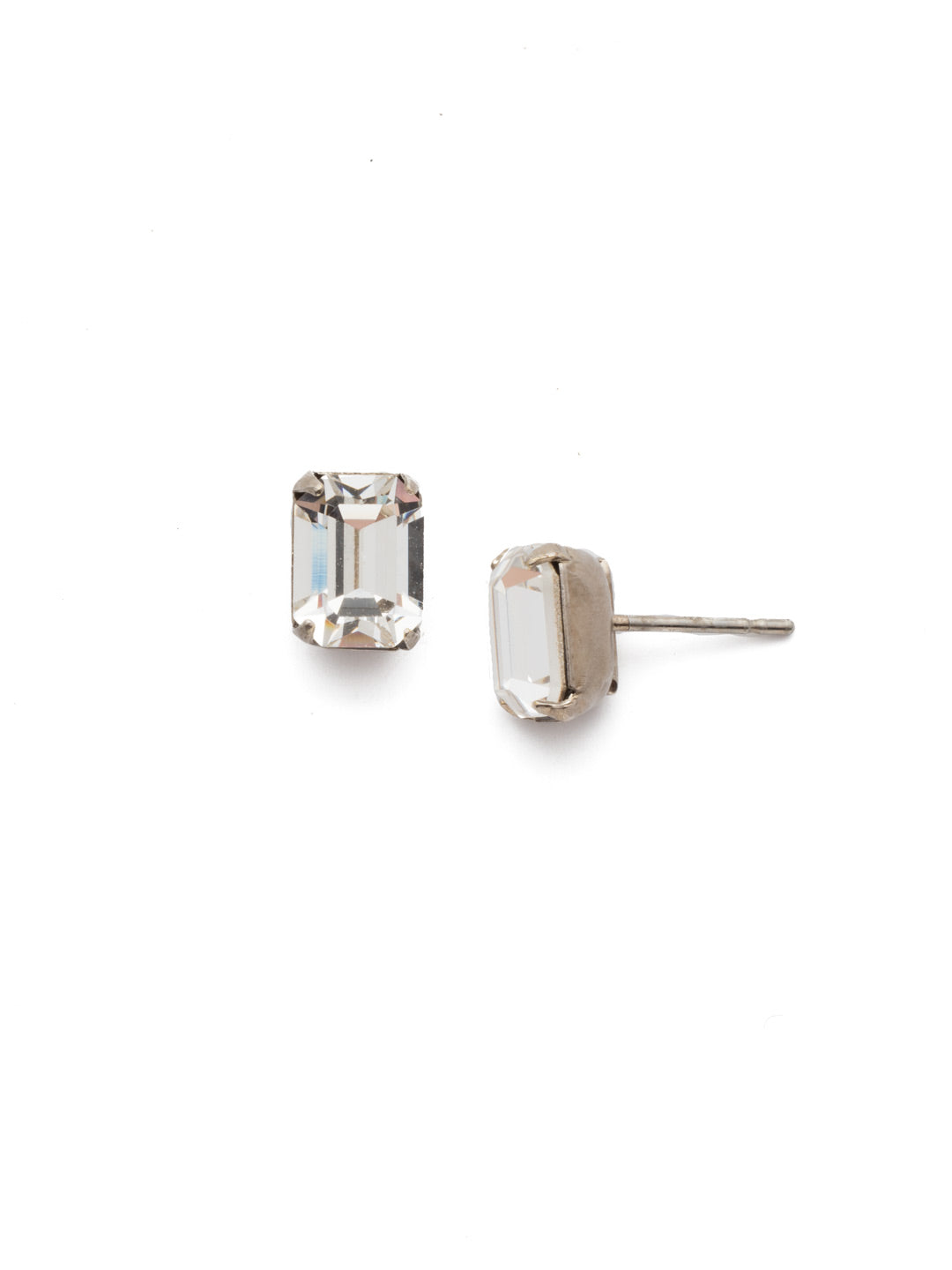 Mini Emerald Cut Stud Earrings - EBY42ASCRY