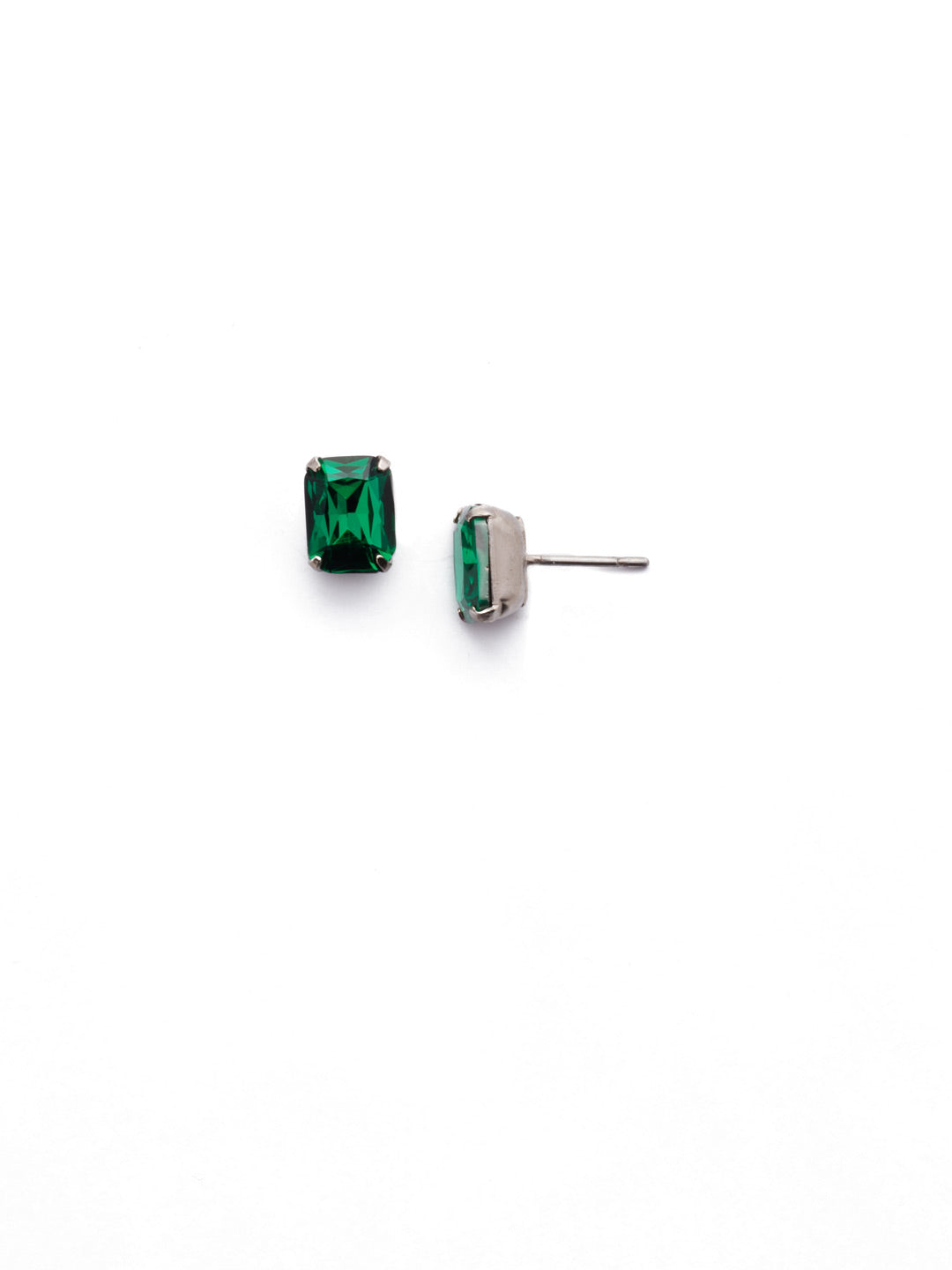 Mini Emerald Cut Stud Earrings - EBY42ASEME