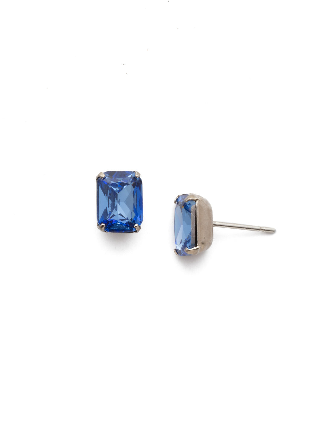 Mini Emerald Cut Stud Earring - Sorrelli Essentials - EBY42ASSAP