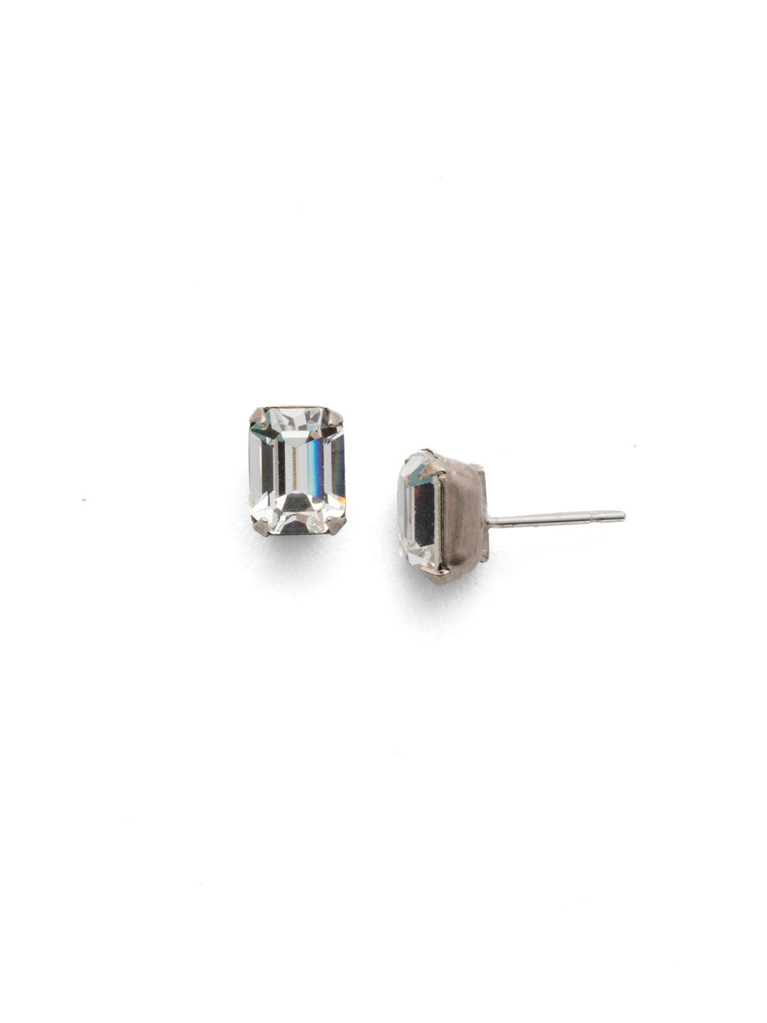 Mini Emerald Cut Stud Earring - Sorrelli Essentials - EBY42ASSNM