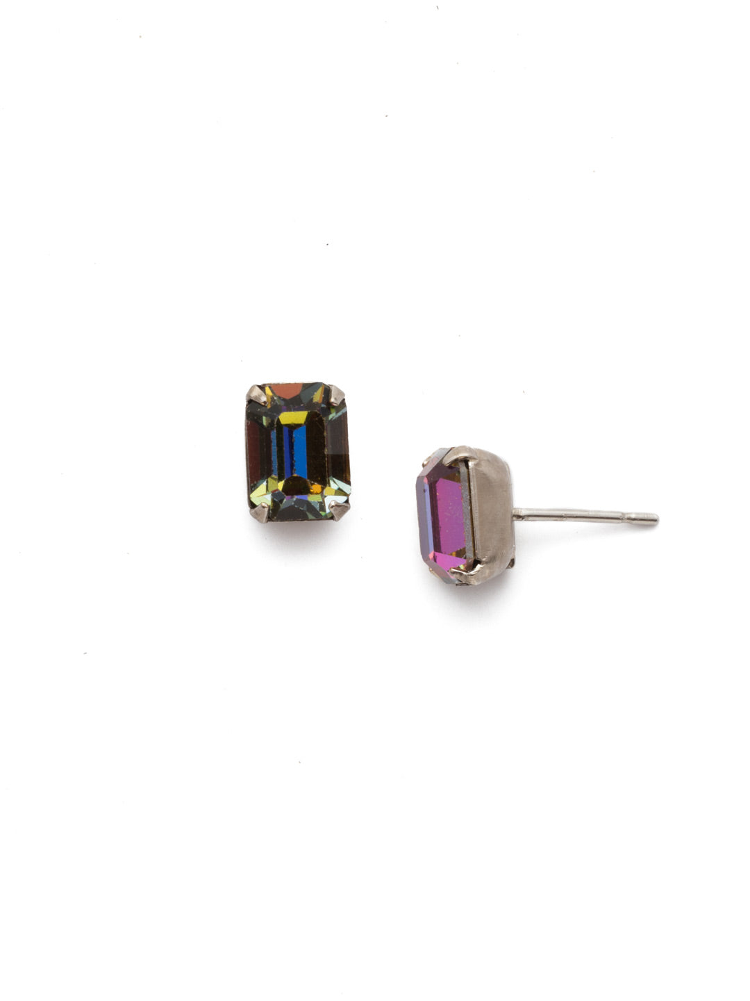 Mini Emerald Cut Stud Earring - Sorrelli Essentials - EBY42ASVO