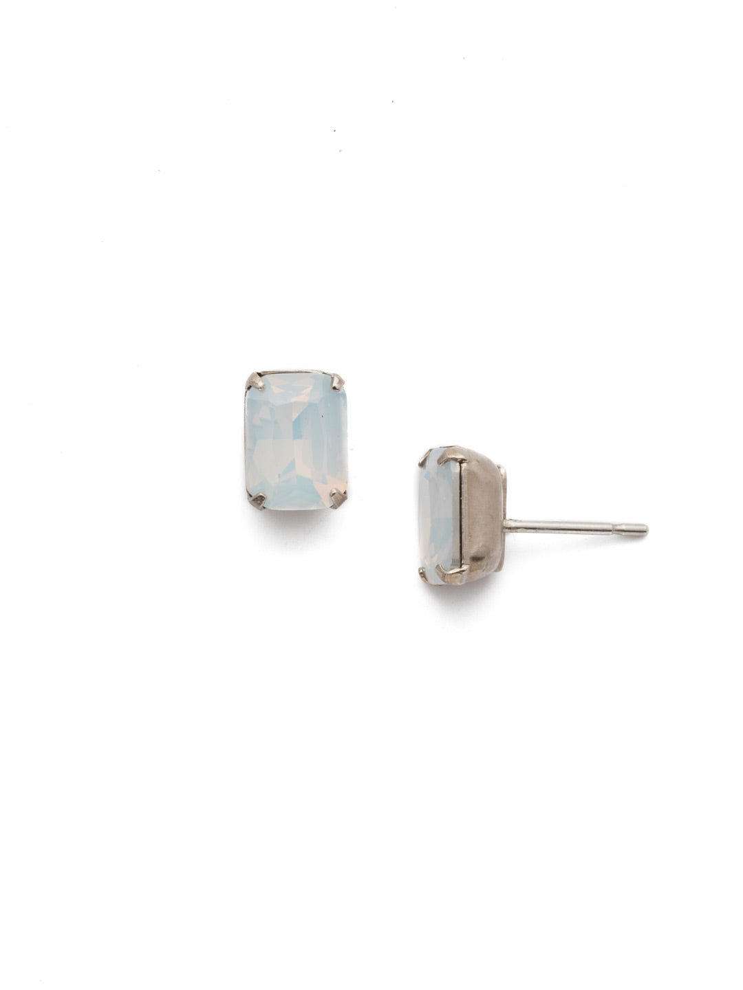 Mini Emerald Cut Stud Earring - Sorrelli Essentials - EBY42ASWO