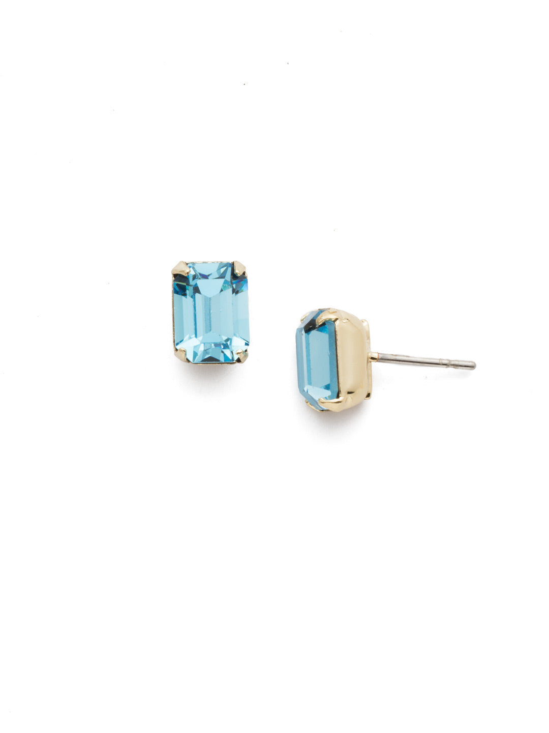 Mini Emerald Cut Stud Earrings - EBY42BGAQU