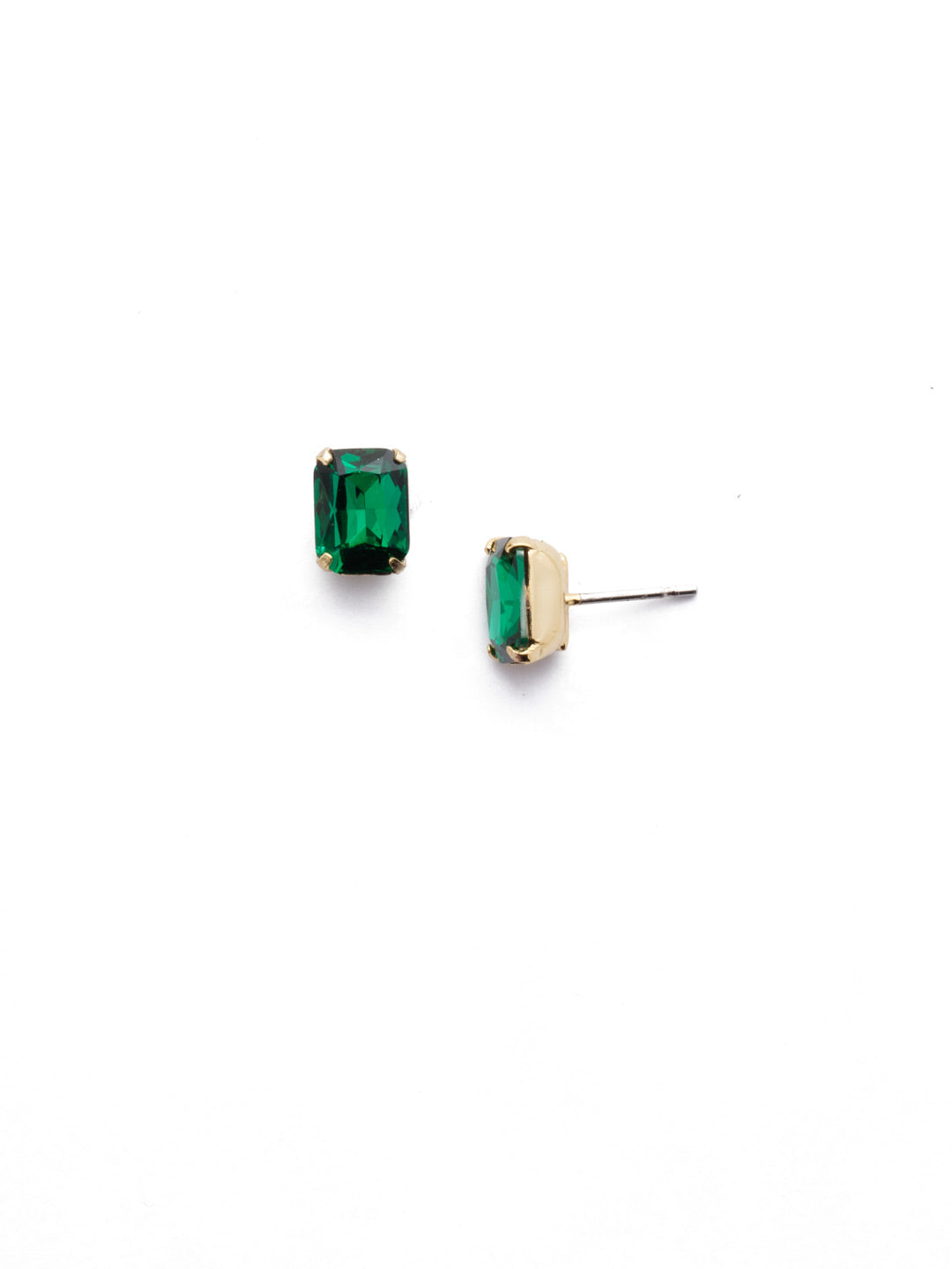 Mini Emerald Cut Stud Earrings - EBY42BGEME