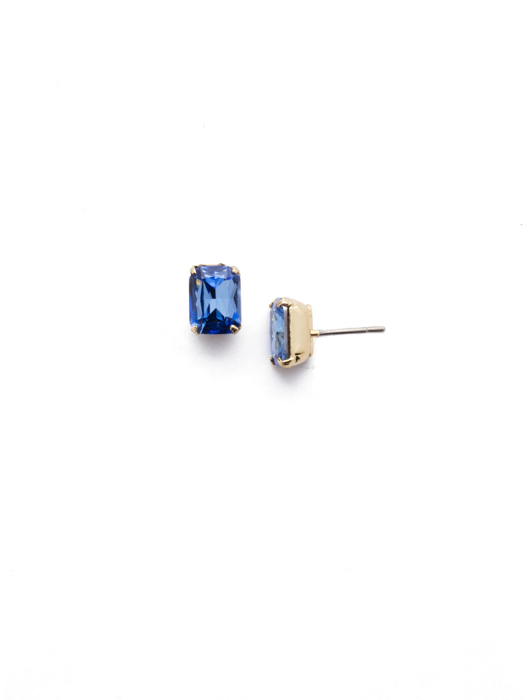 Mini Emerald Cut Stud Earrings - EBY42BGSAP