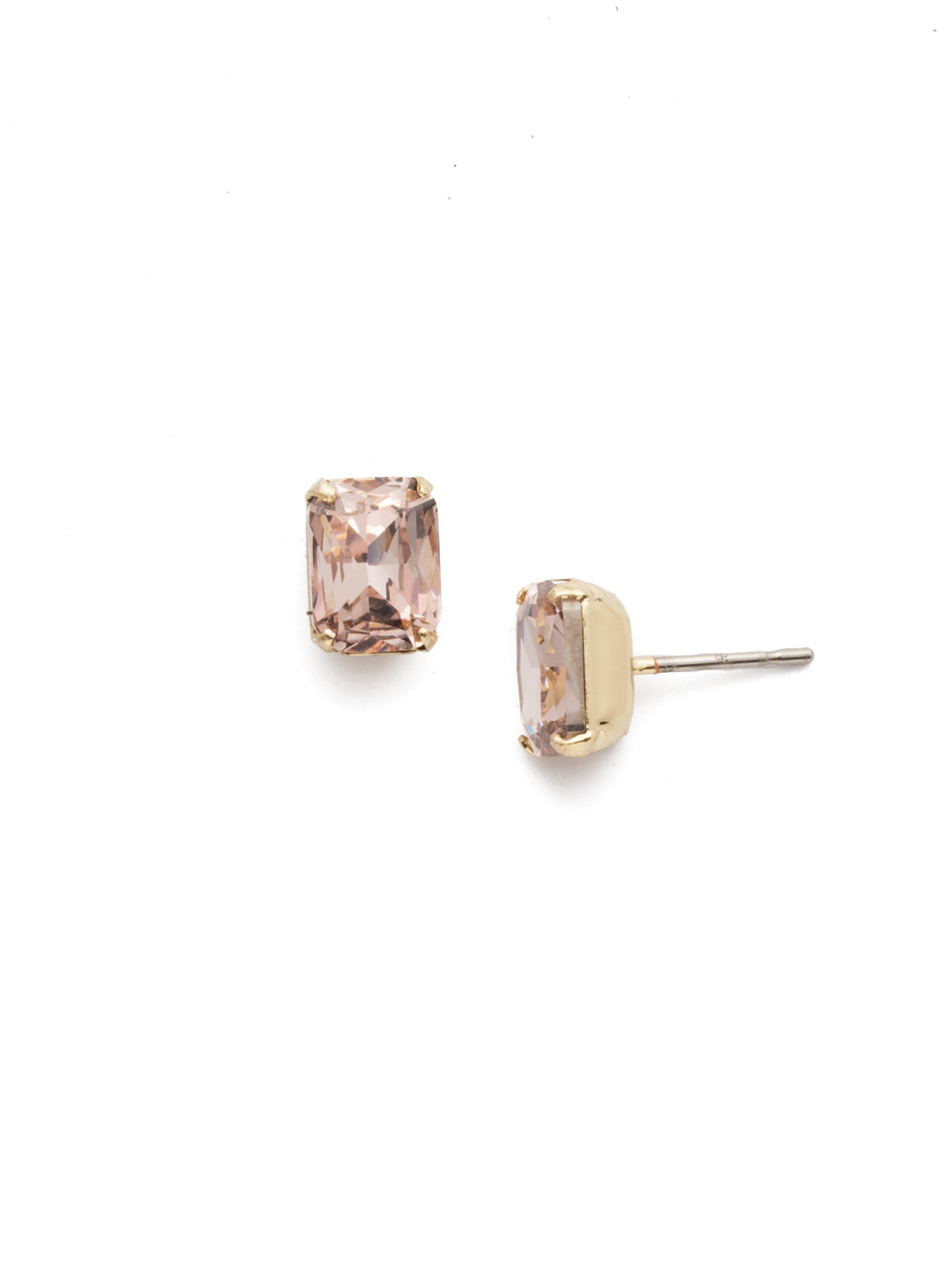 Mini Emerald Cut Stud Earring - Sorrelli Essentials - EBY42BGVIN