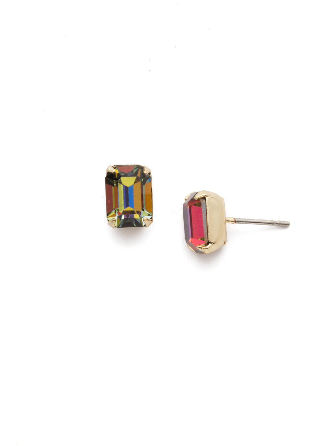 Mini Emerald Cut Stud Earrings - EBY42BGVO