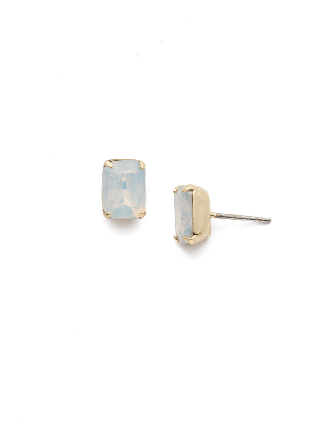 Mini Emerald Cut Stud Earrings - EBY42BGWO