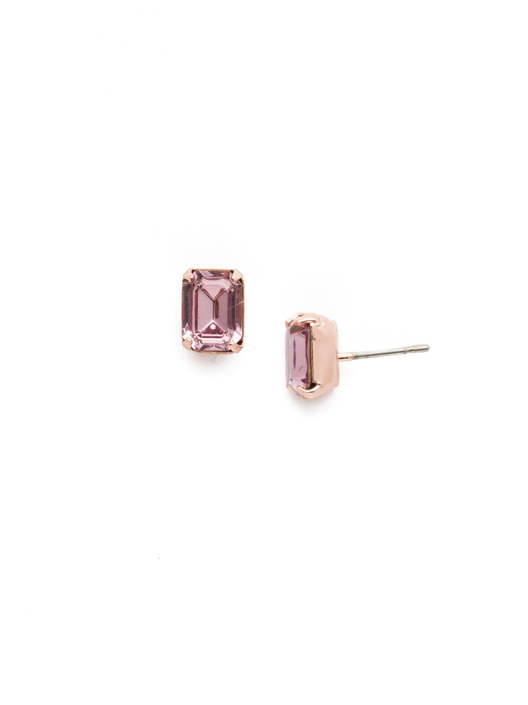 Mini Emerald Cut Stud Earrings - EBY42RGLVP