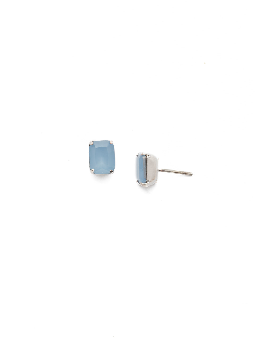 Mini Emerald Cut Stud Earrings - EBY42RHNTB