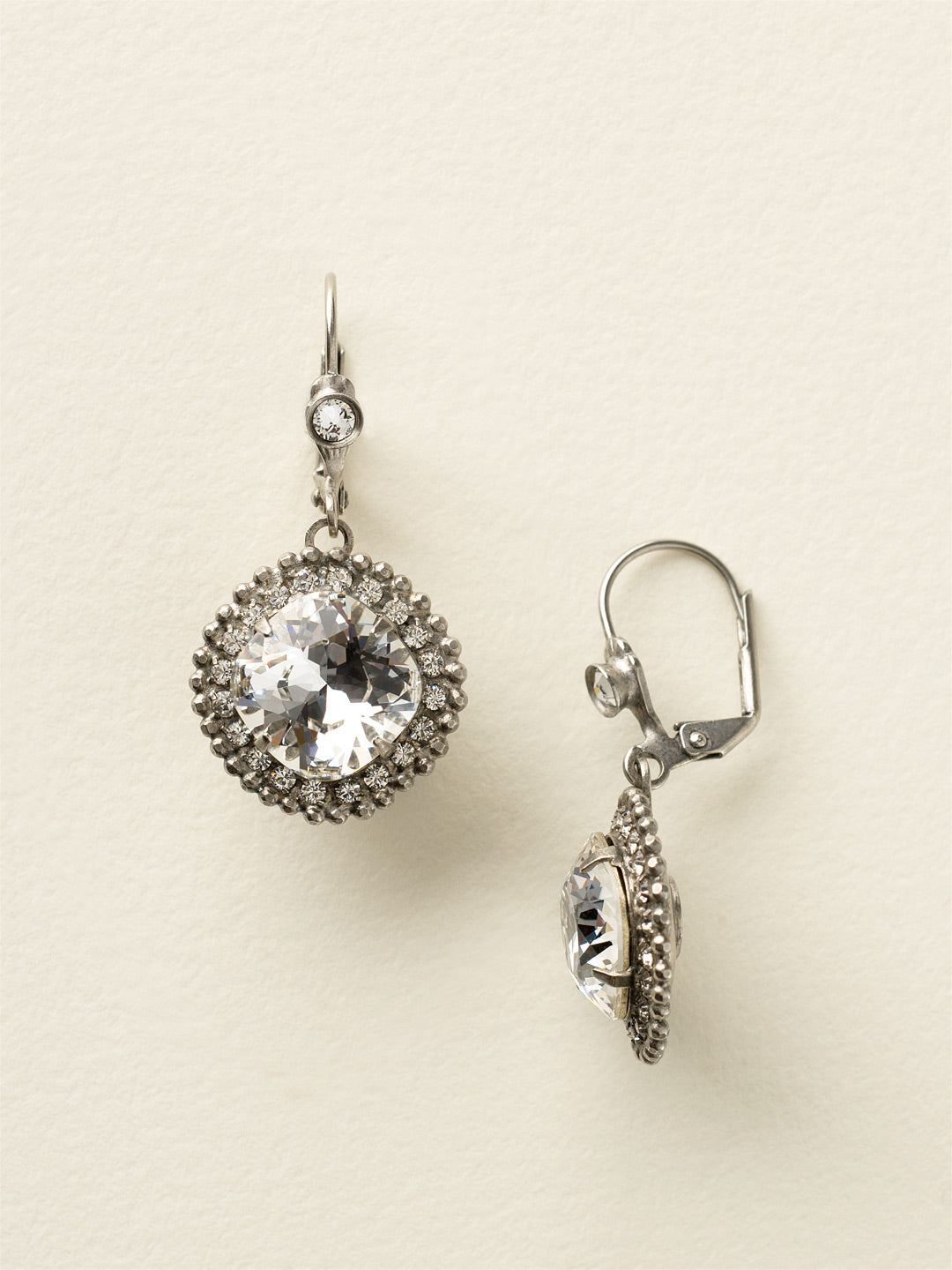 Cushion Cut Drop Dangle Earrings - ECB20ASCRY