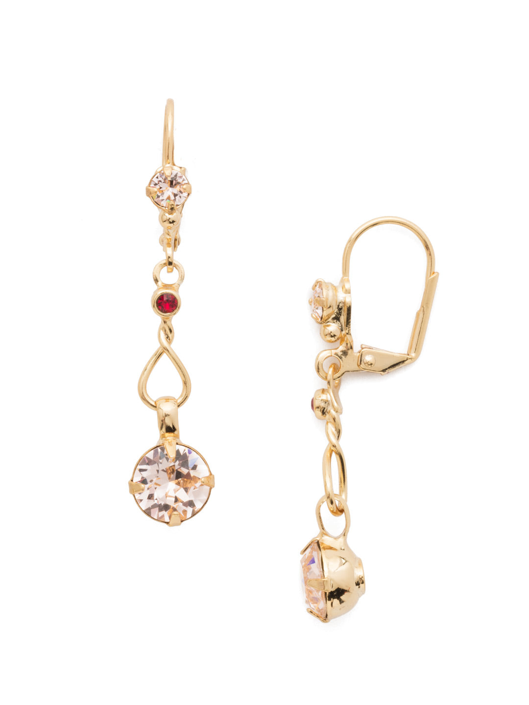 Crystal Drop Dangle Earrings - ECF5BGSRC