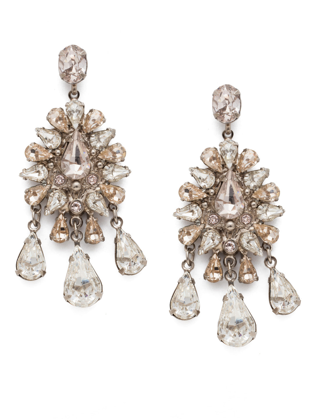 Dripping In Crystals Chandelier Earring - ECK20ASPLS