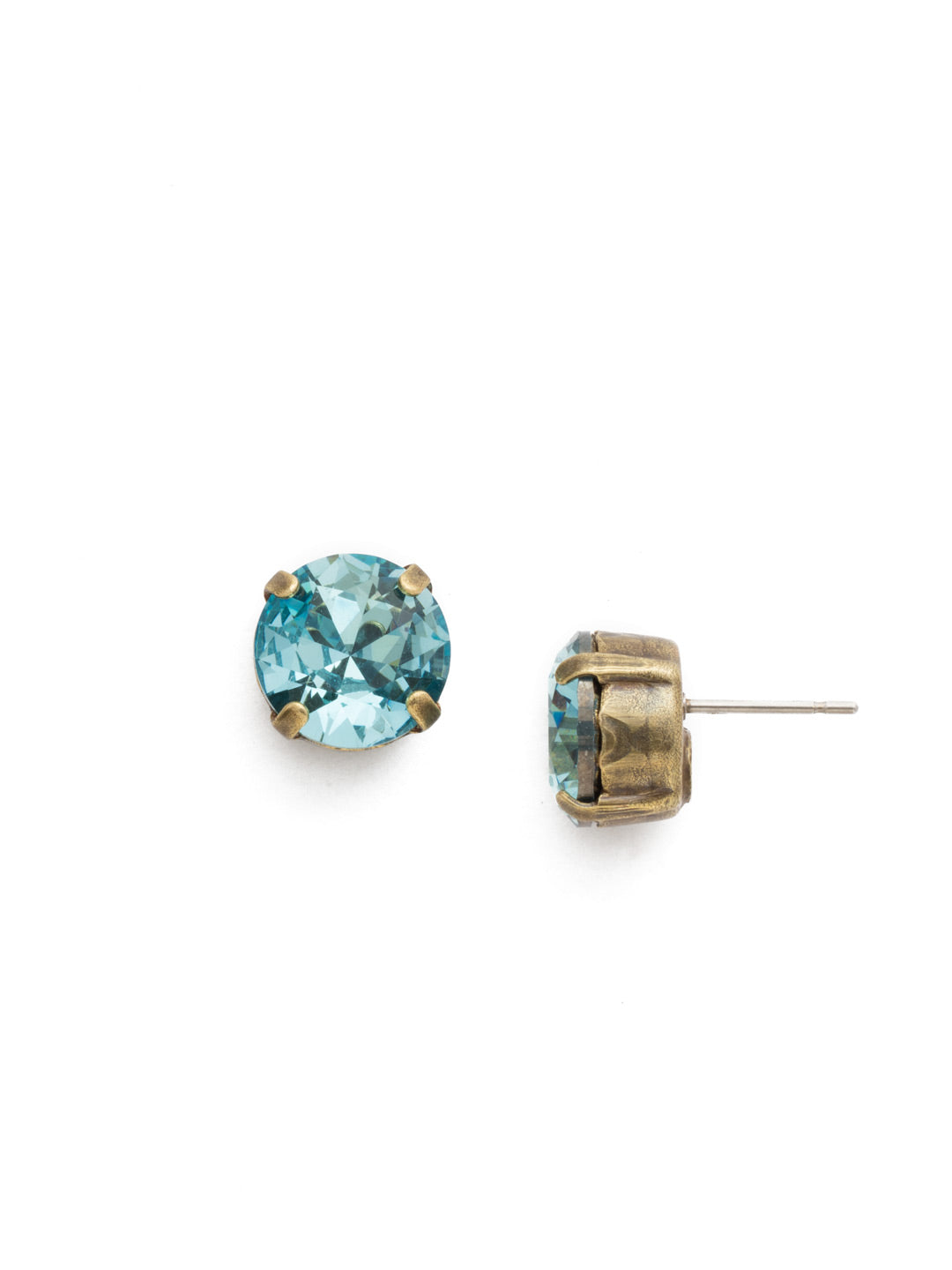 Round Crystal Stud Earrings - ECM14AGAQU