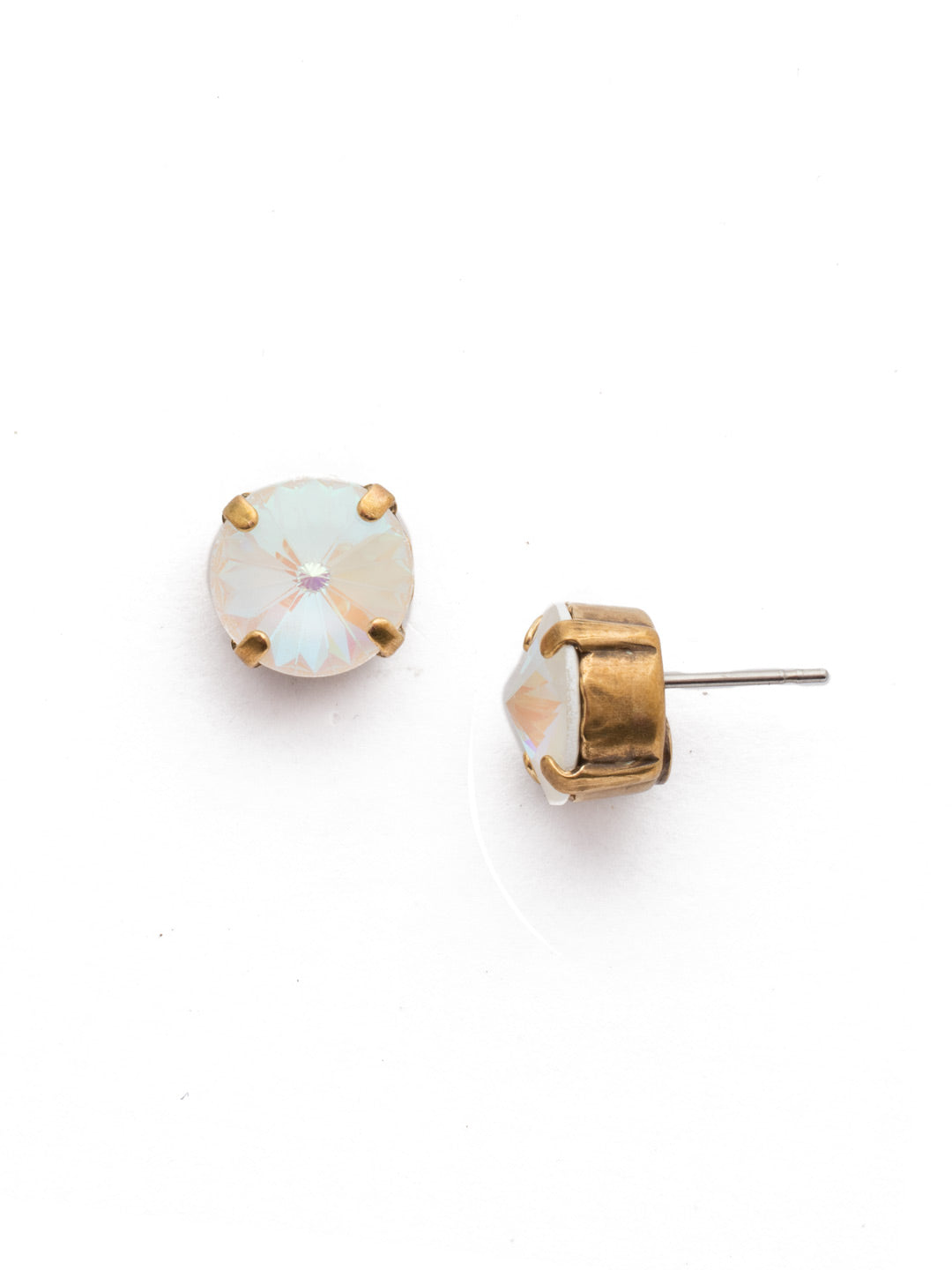 Round Crystal Stud Earrings - ECM14AGROB