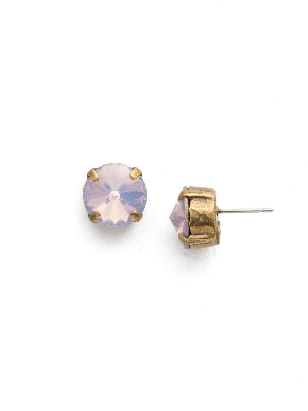 Round Crystal Stud Earrings - ECM14AGROW