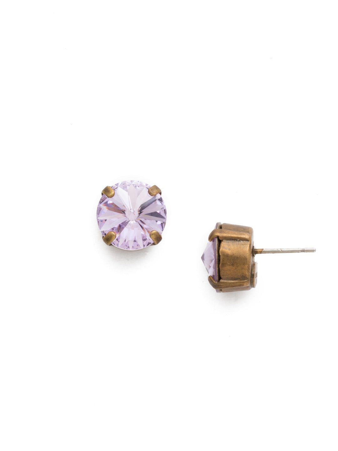 Round Crystal Stud Earrings - ECM14AGVI