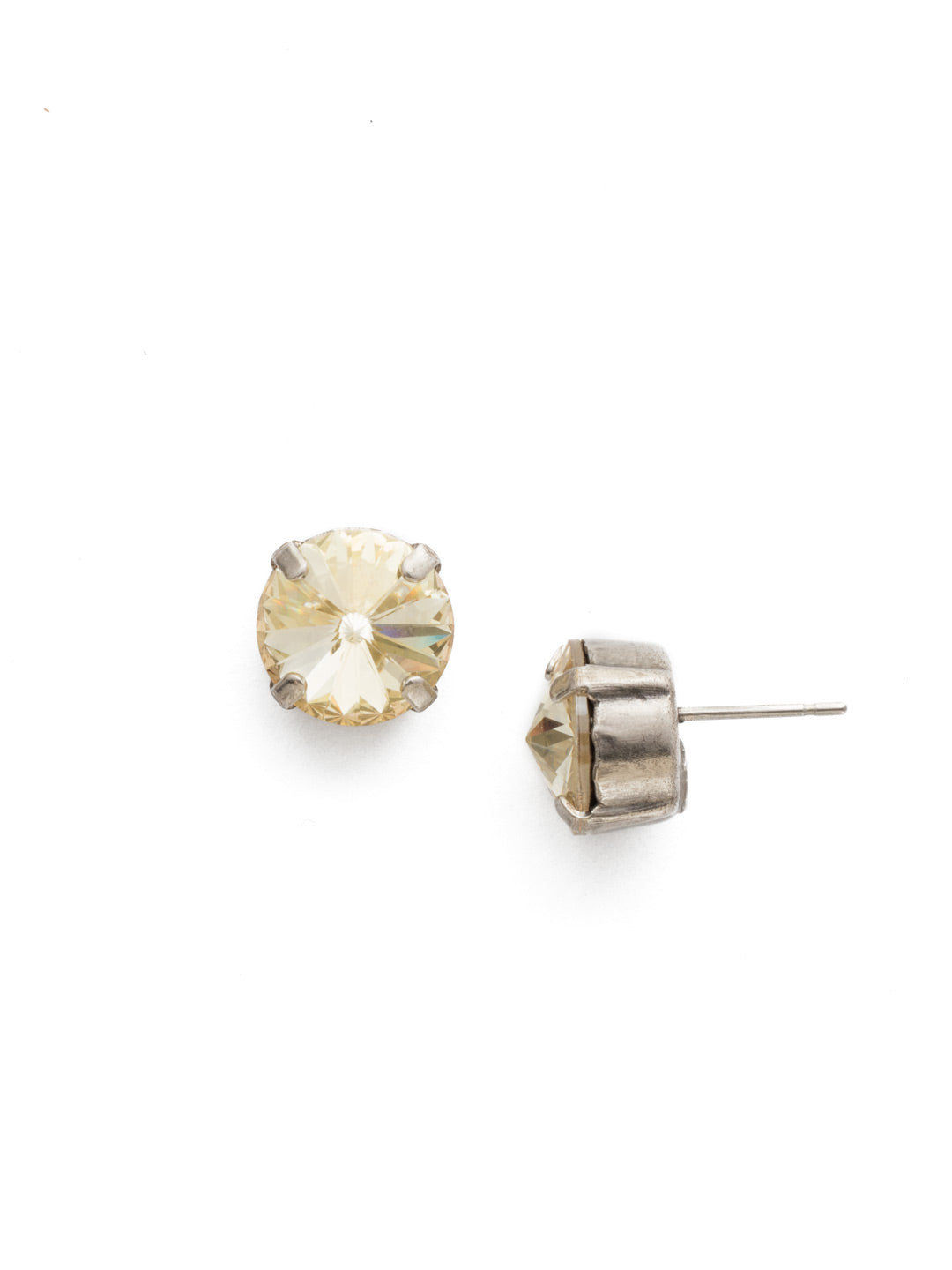 Round Crystal Stud Earring - ECM14ASCCH