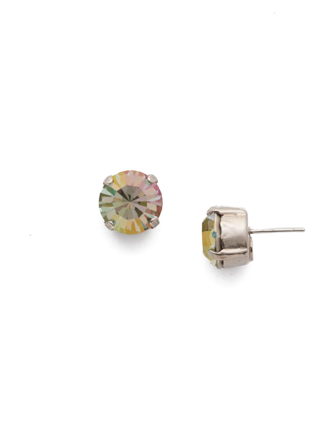 Round Crystal Stud Earrings - ECM14ASCRE