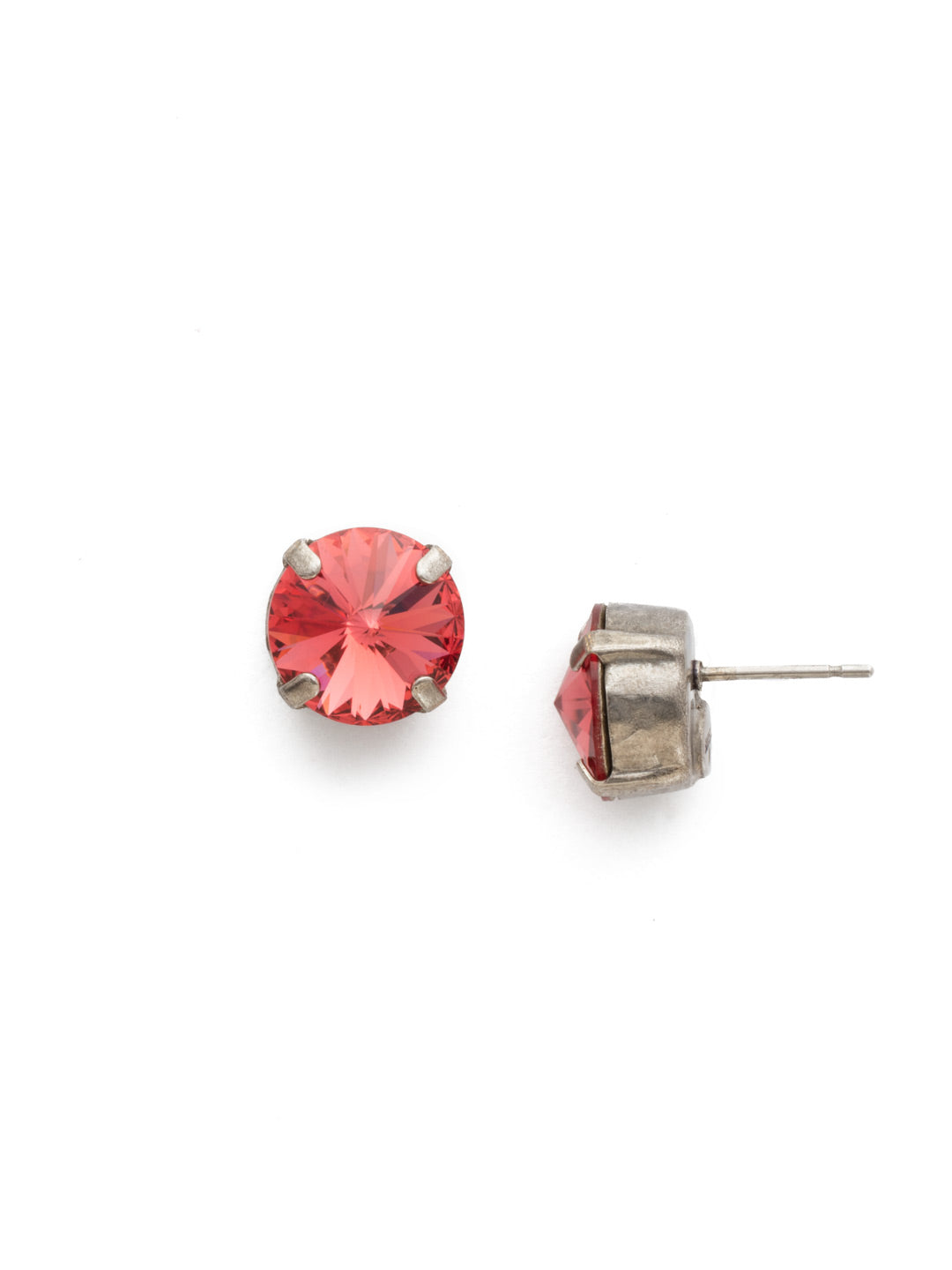 Round Crystal Stud Earring - ECM14ASCRL