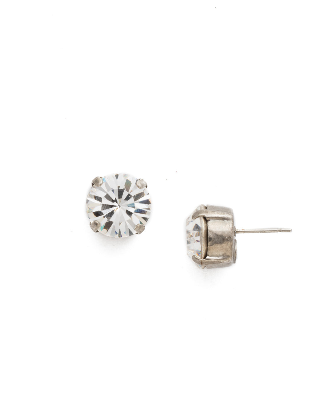 Round Crystal Stud Earrings - ECM14ASCRY