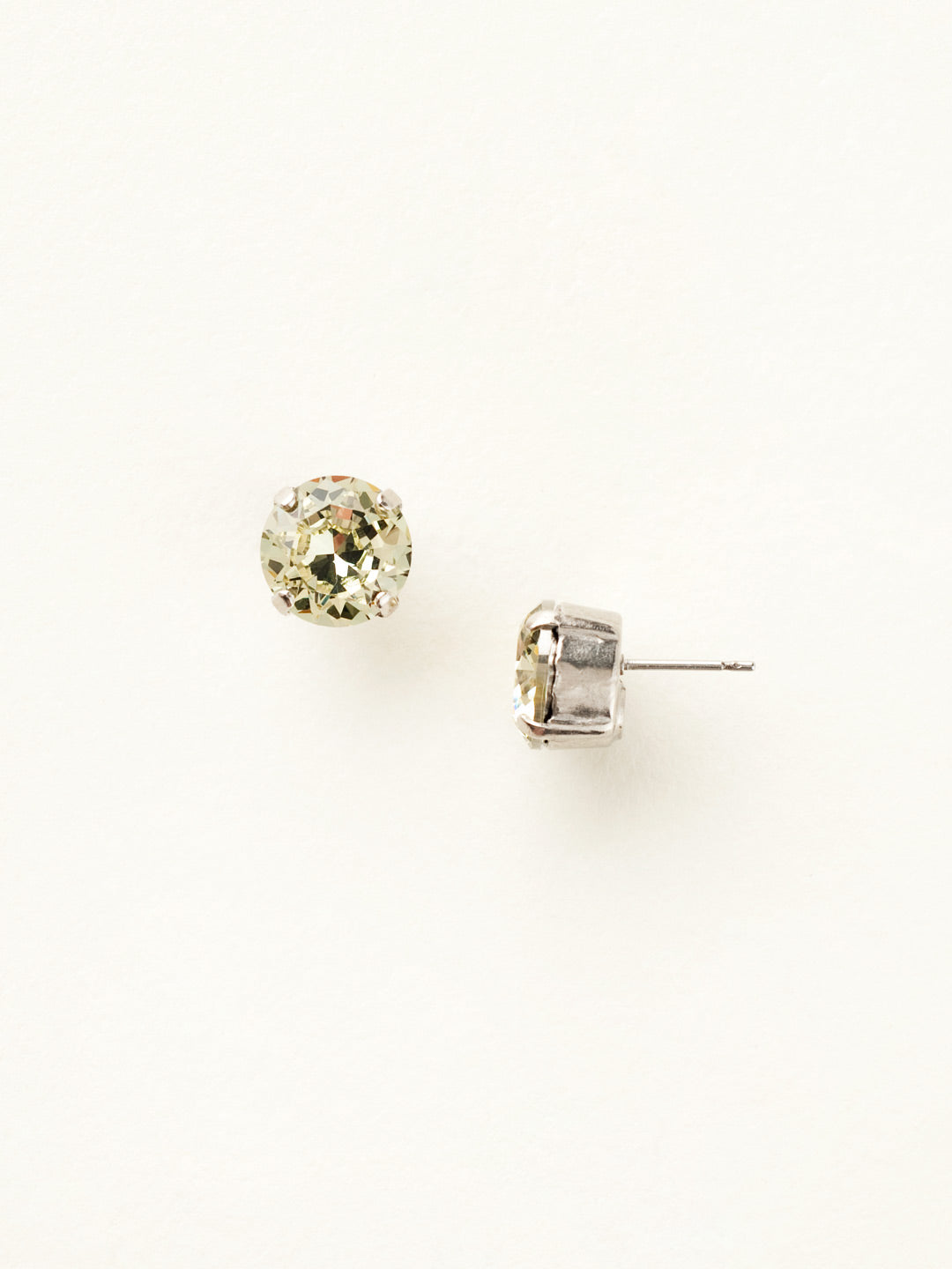 Round Crystal Stud Earrings - ECM14ASJON