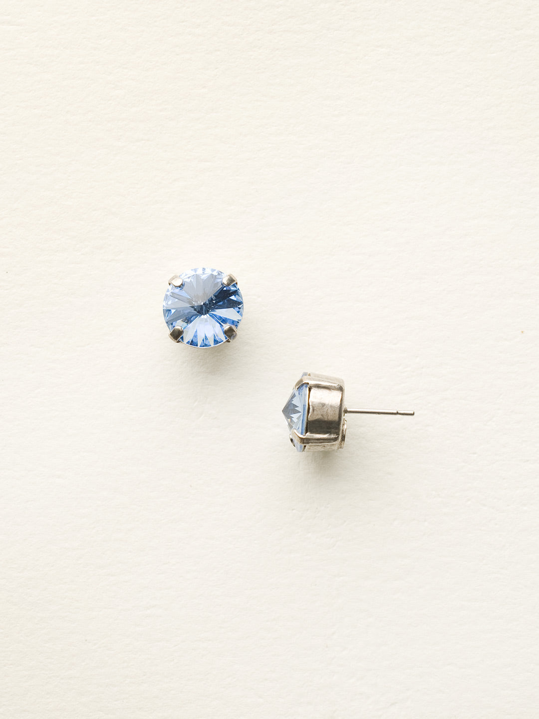 Round Crystal Stud Earring - ECM14ASLTS