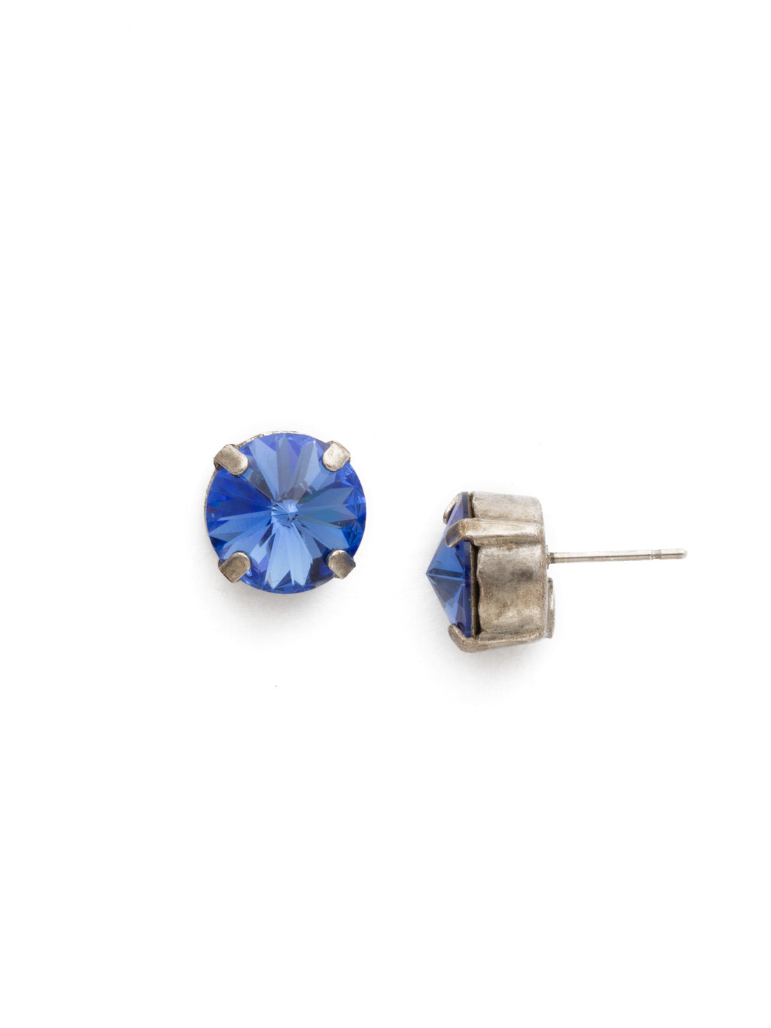 Round Crystal Stud Earrings - ECM14ASSAP