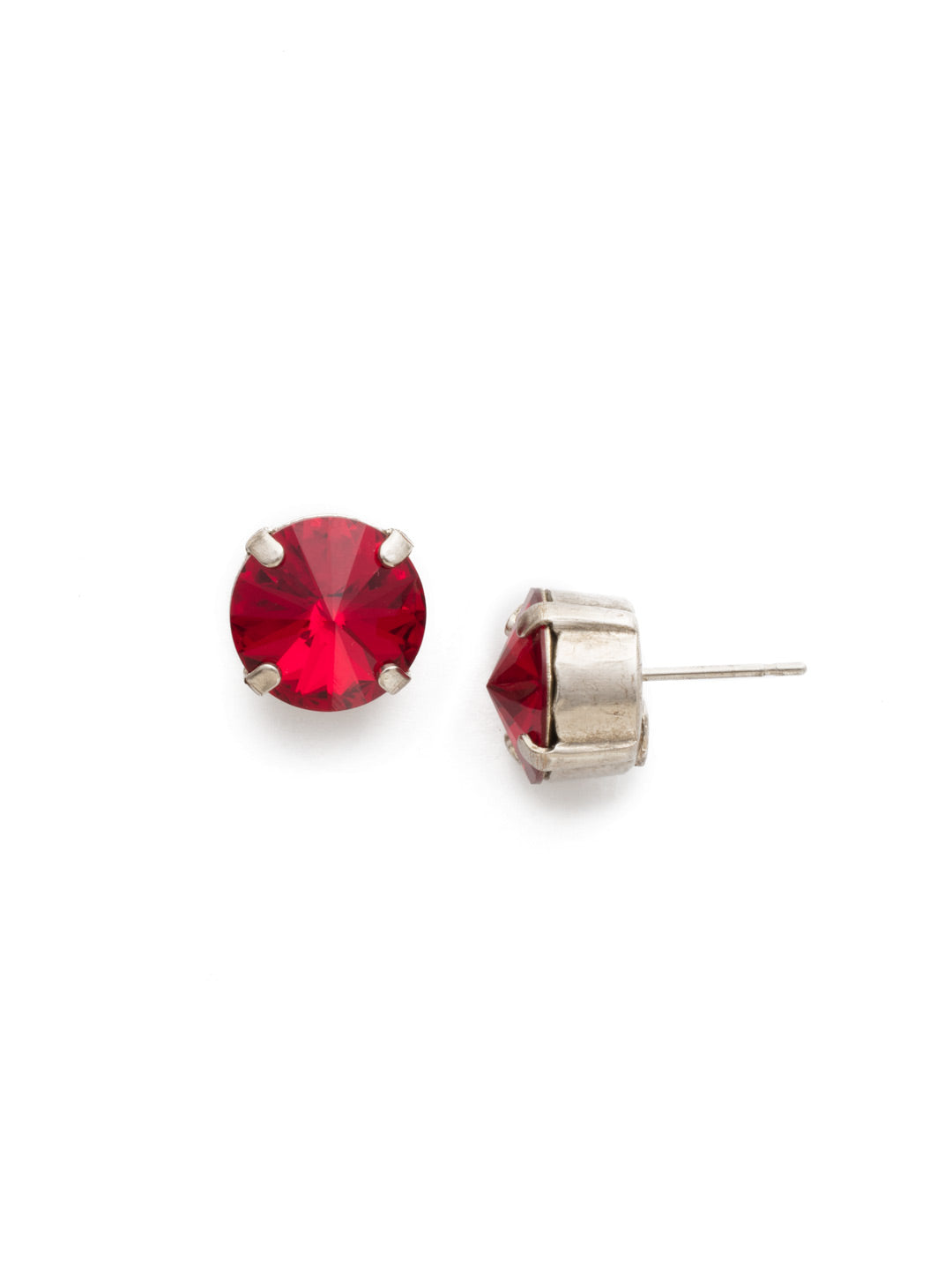 Round Crystal Stud Earrings - ECM14ASSI