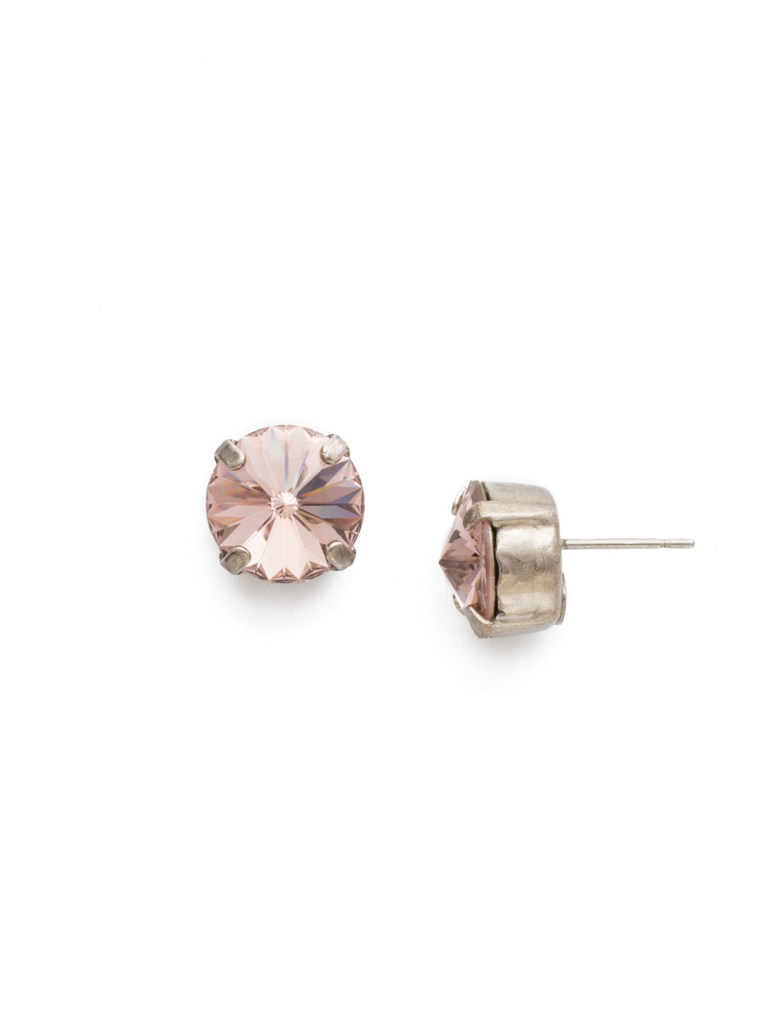 Round Crystal Stud Earrings - ECM14ASVIN