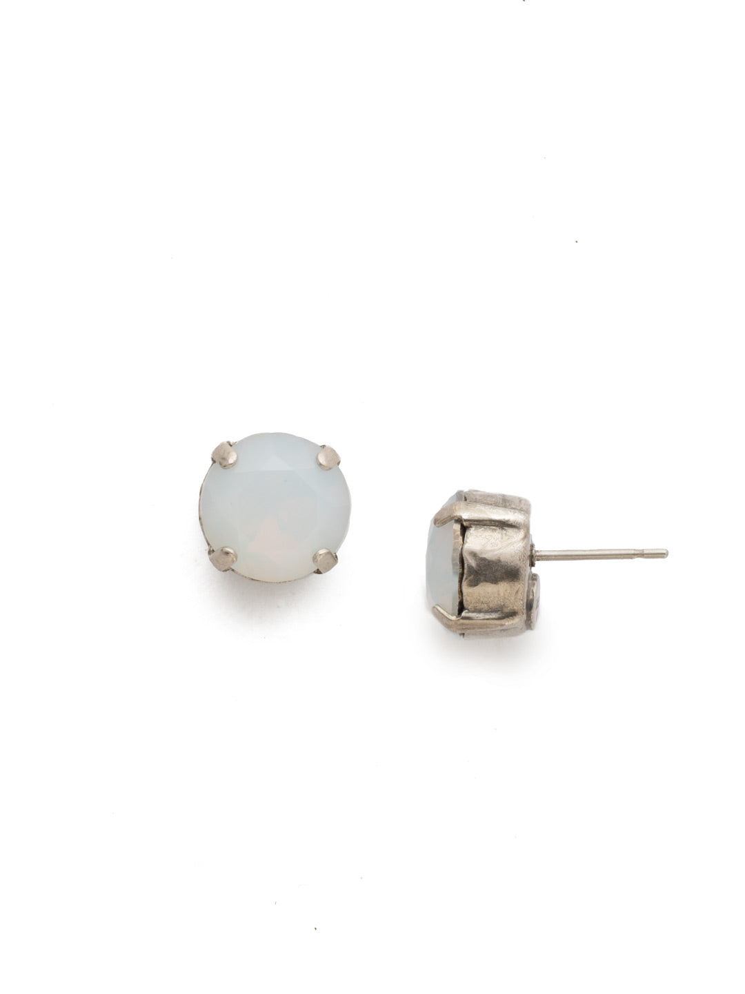 Round Crystal Stud Earrings - ECM14ASWO
