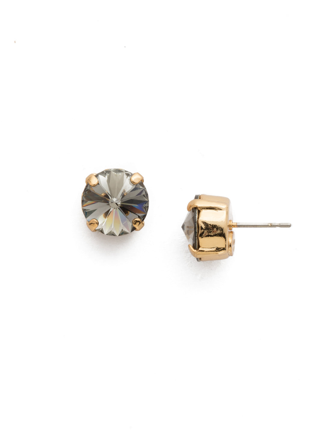 Round Crystal Stud Earrings - ECM14BGBD